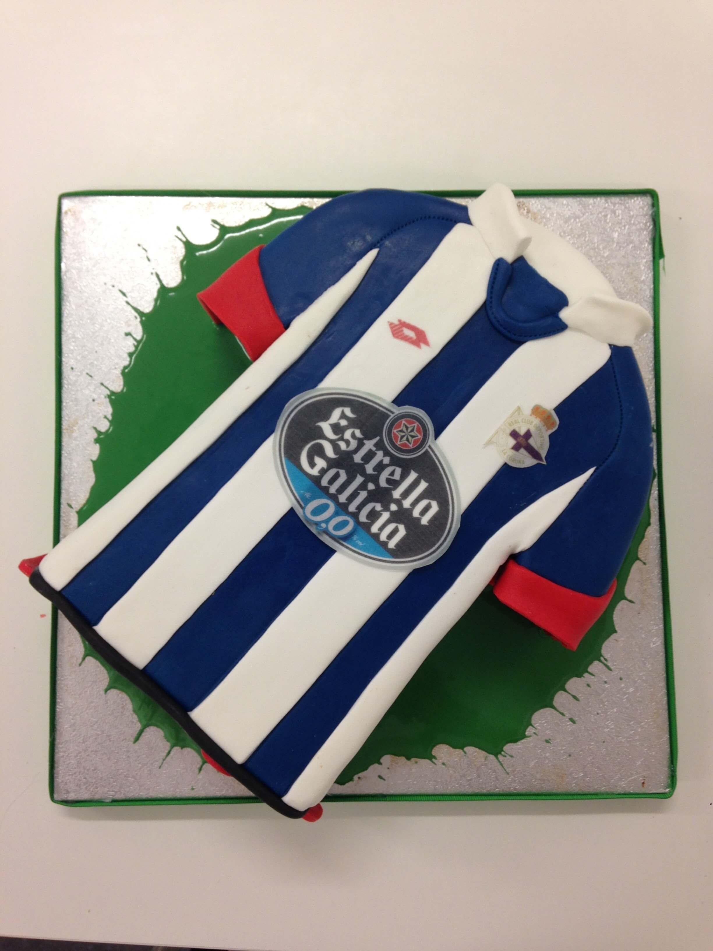 tarta camiseta deportivo de La Coruña depor cumpleaños