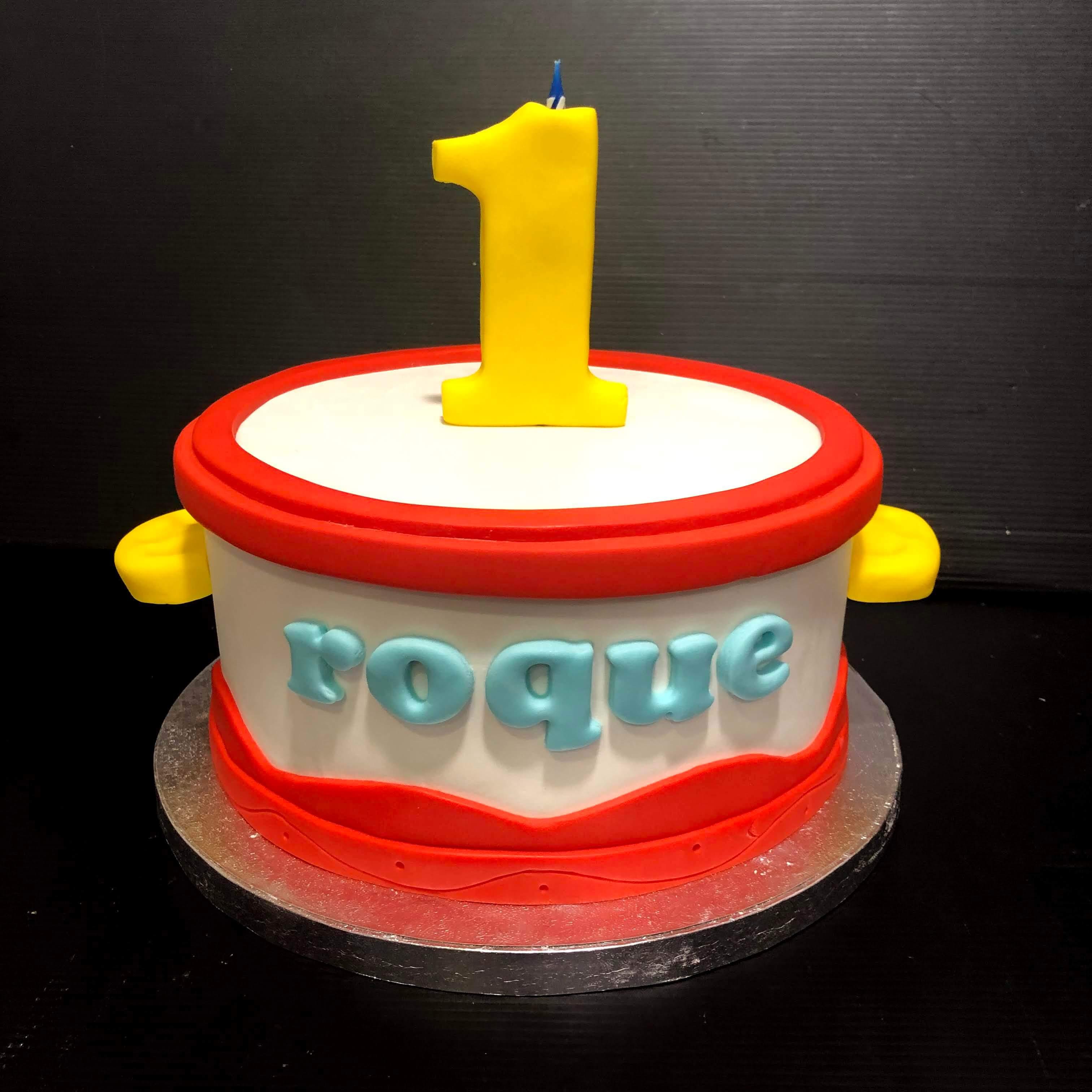 tarta forma de tambor infantil cumpleaños personalizada coruña
