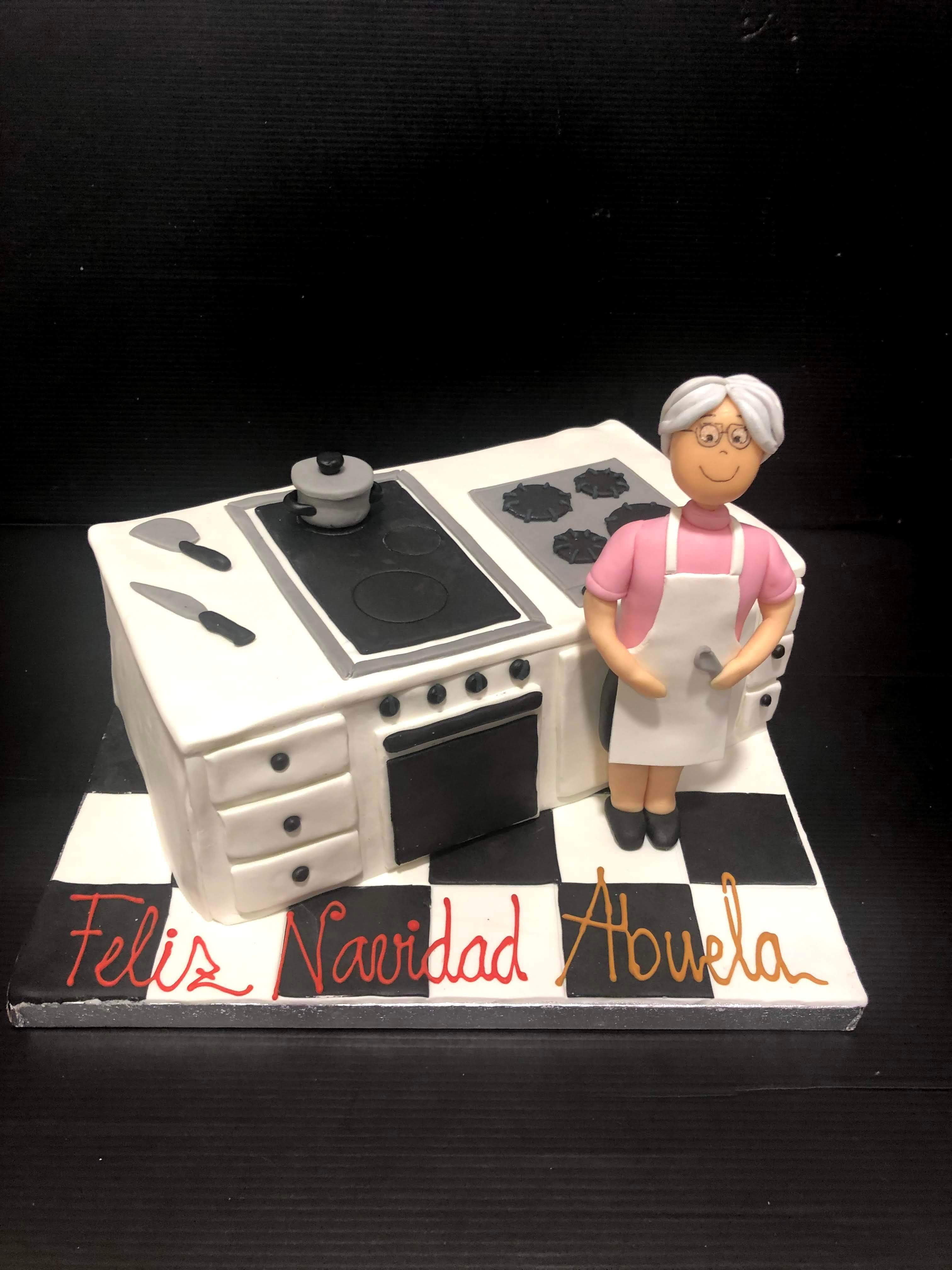 Tarta cumpleaños cocina señora coruña