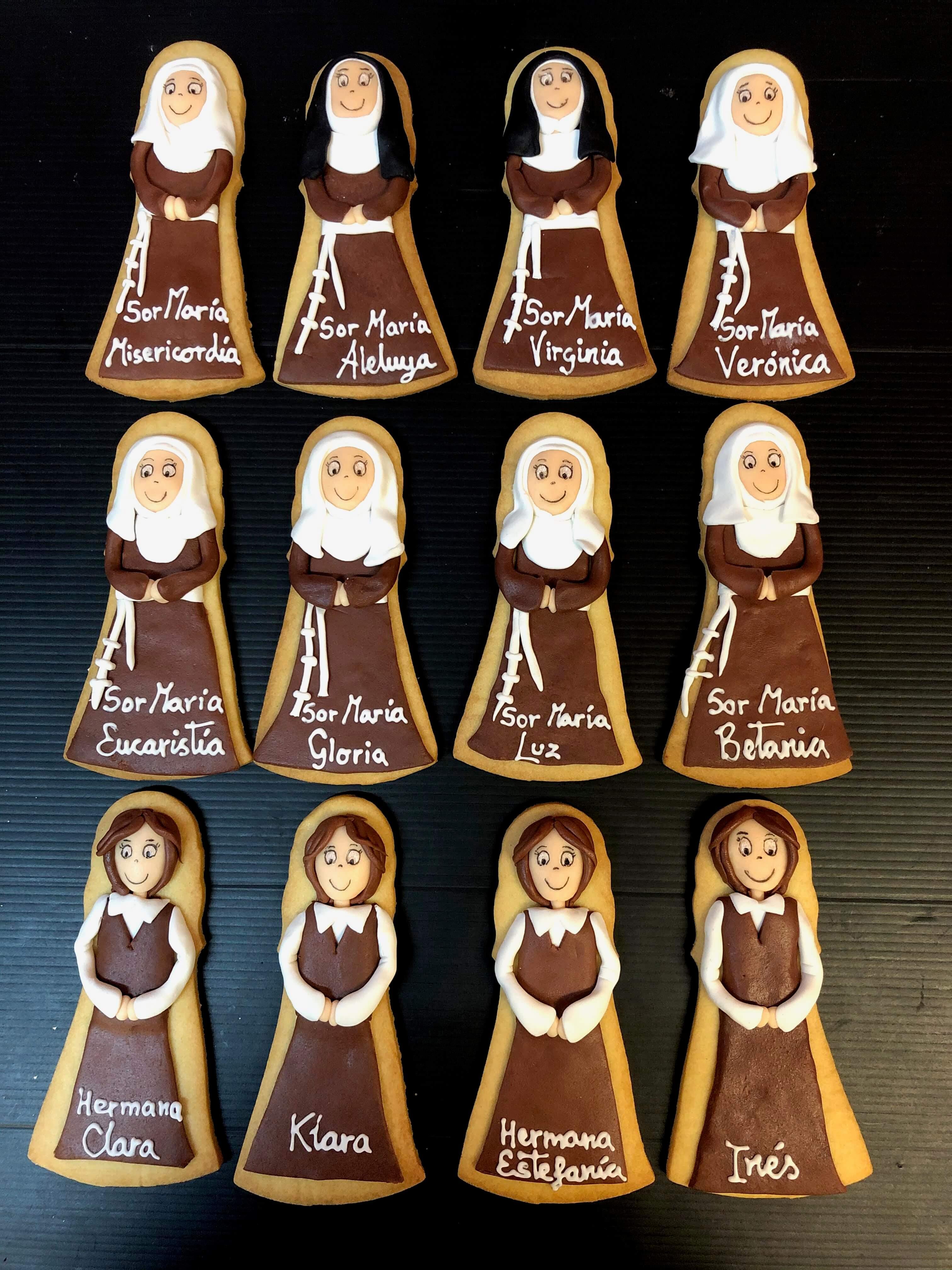 Galletas decoradas personalizadas monjas Sor Coruña