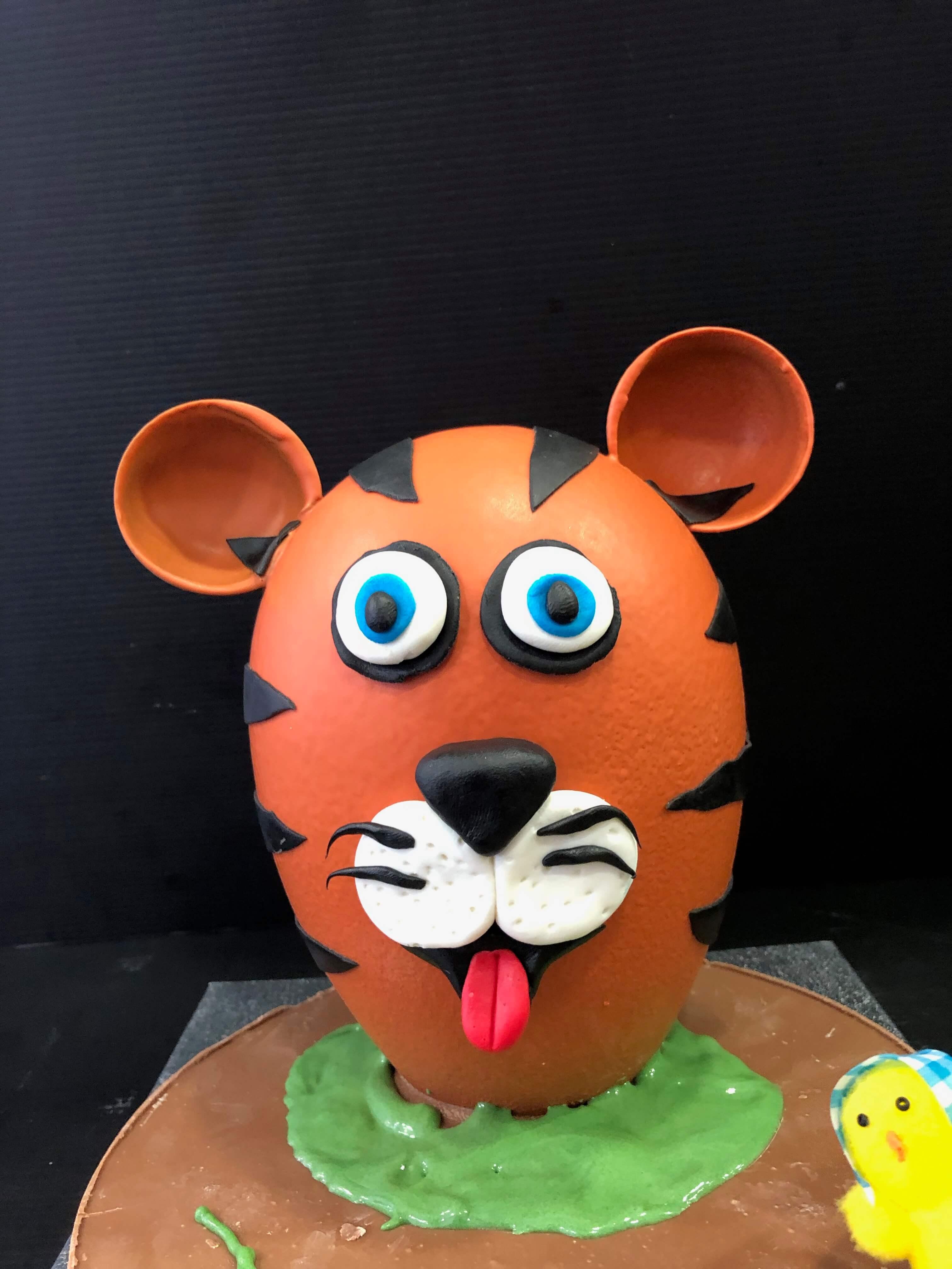 figura pascua huevos de pascua chocolate tigre coruña