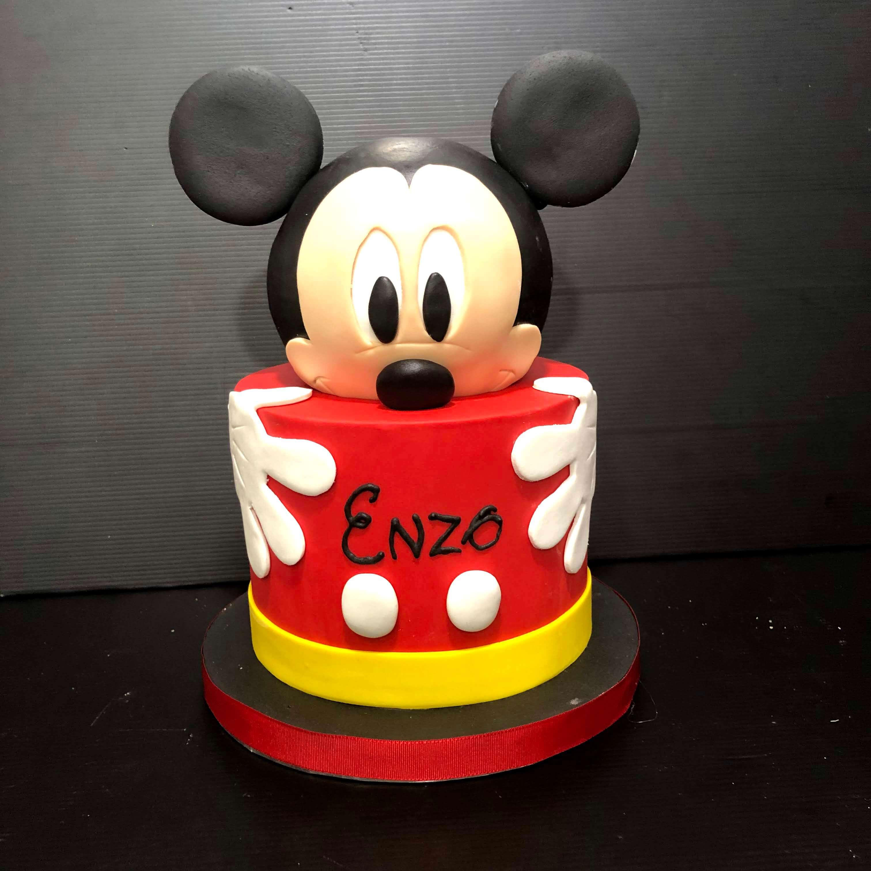 Tarta cumpleaños Mickey mousse personalizada Coruña