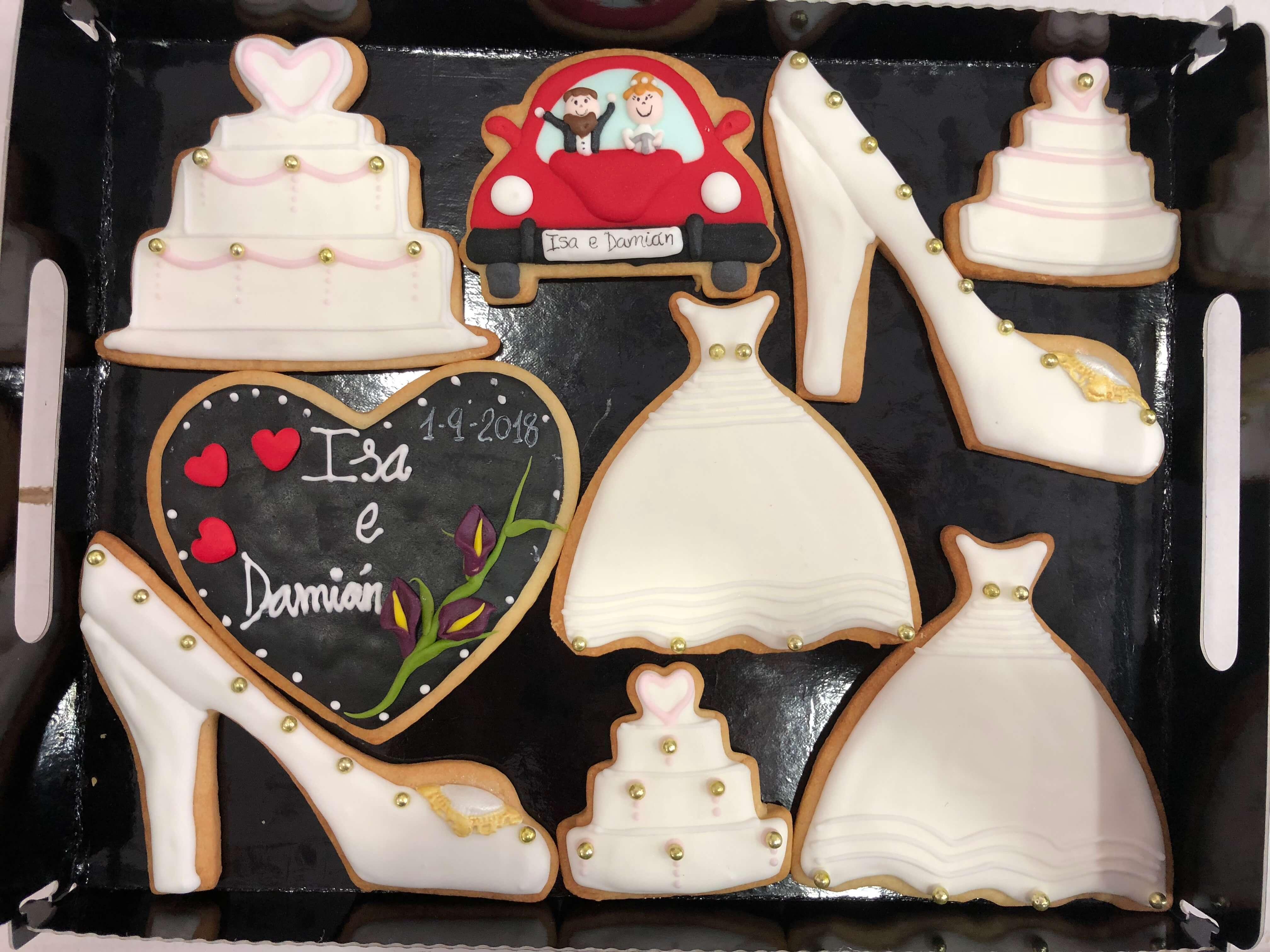 Galletas decoradas novios pareja familia coruña galletas novios