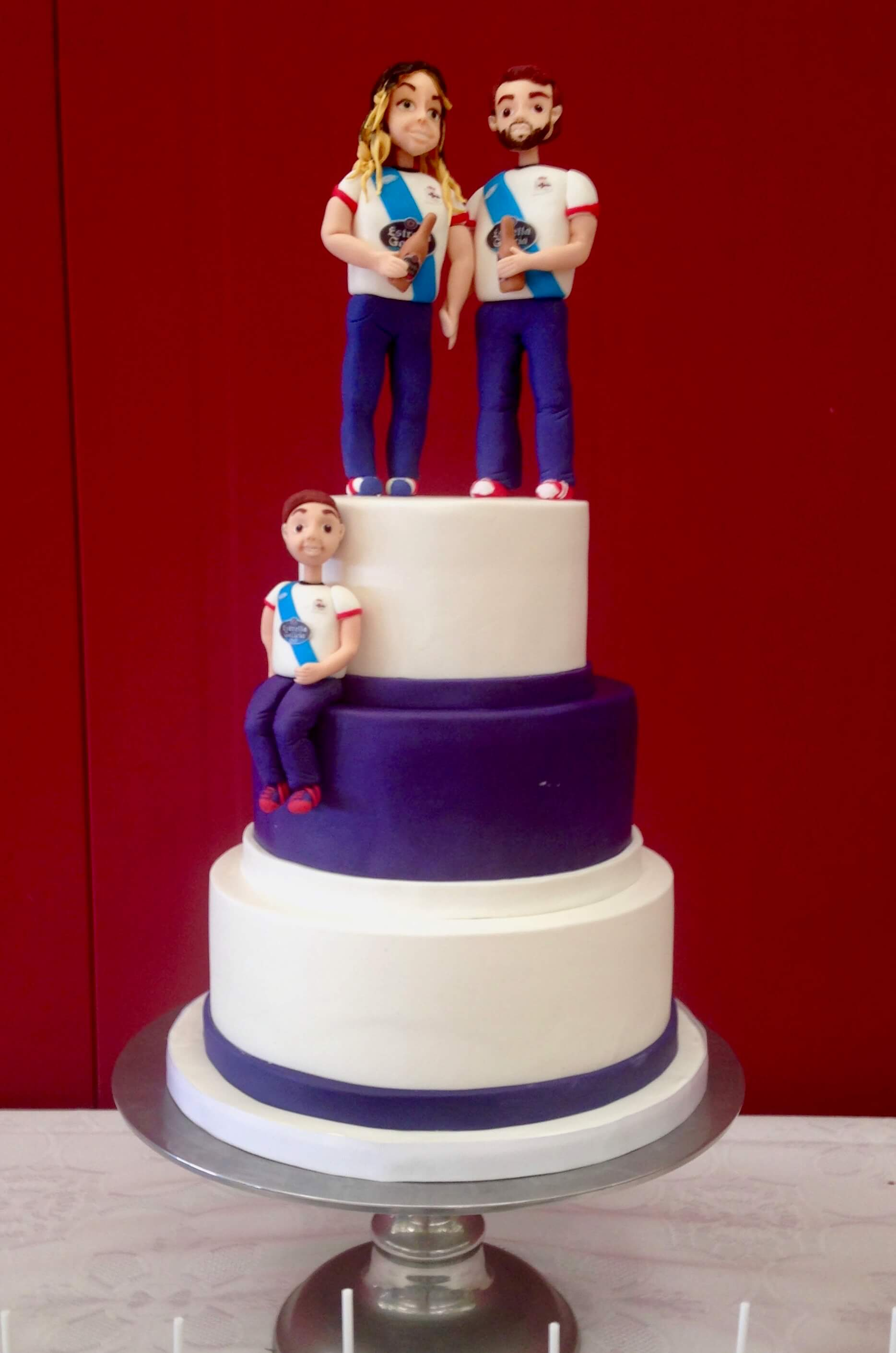 tarta personalizada boda cumpleaños estrella galicia deportivo coruña