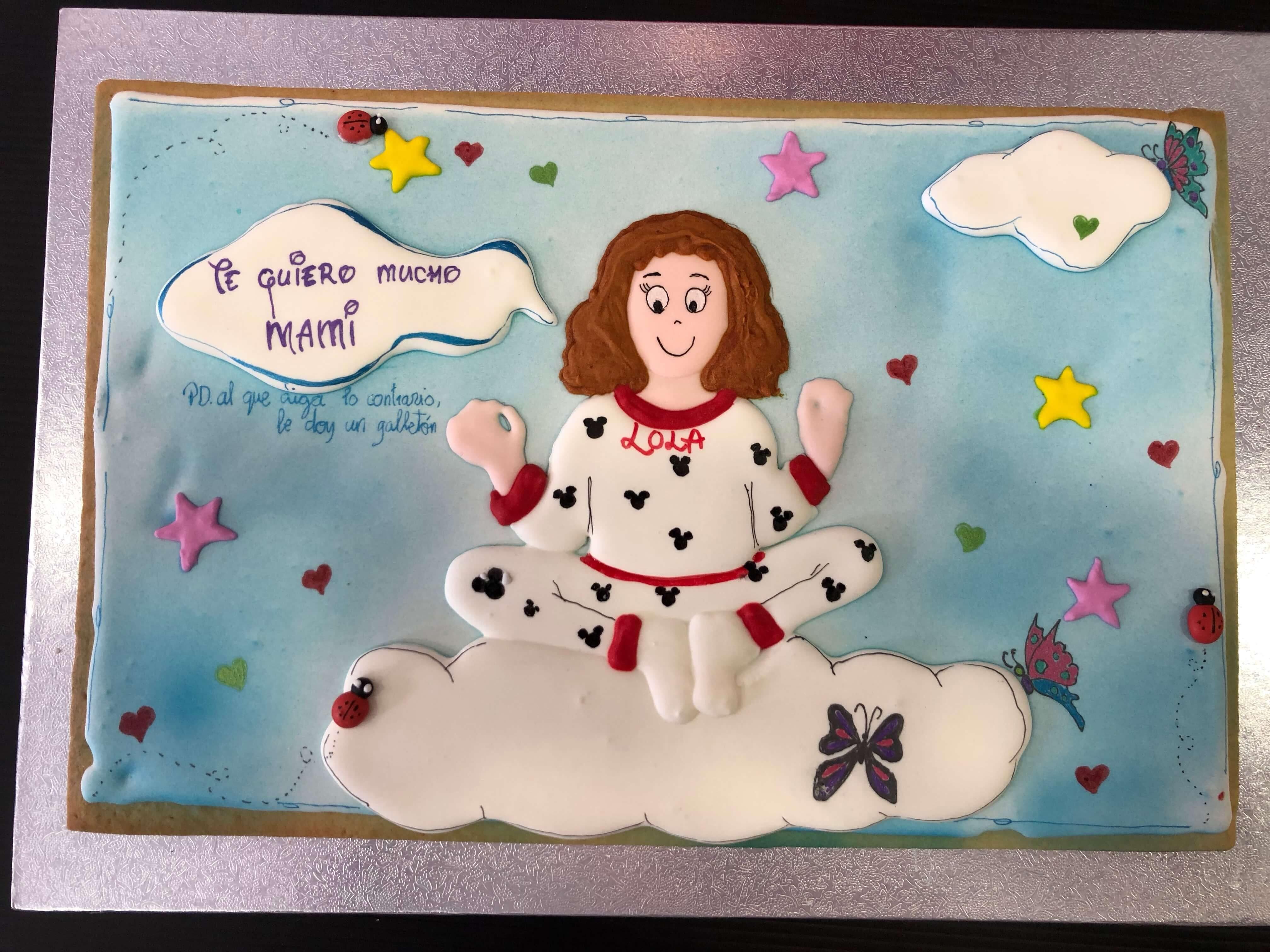 Galletas cumpleaños niña nubes coruña