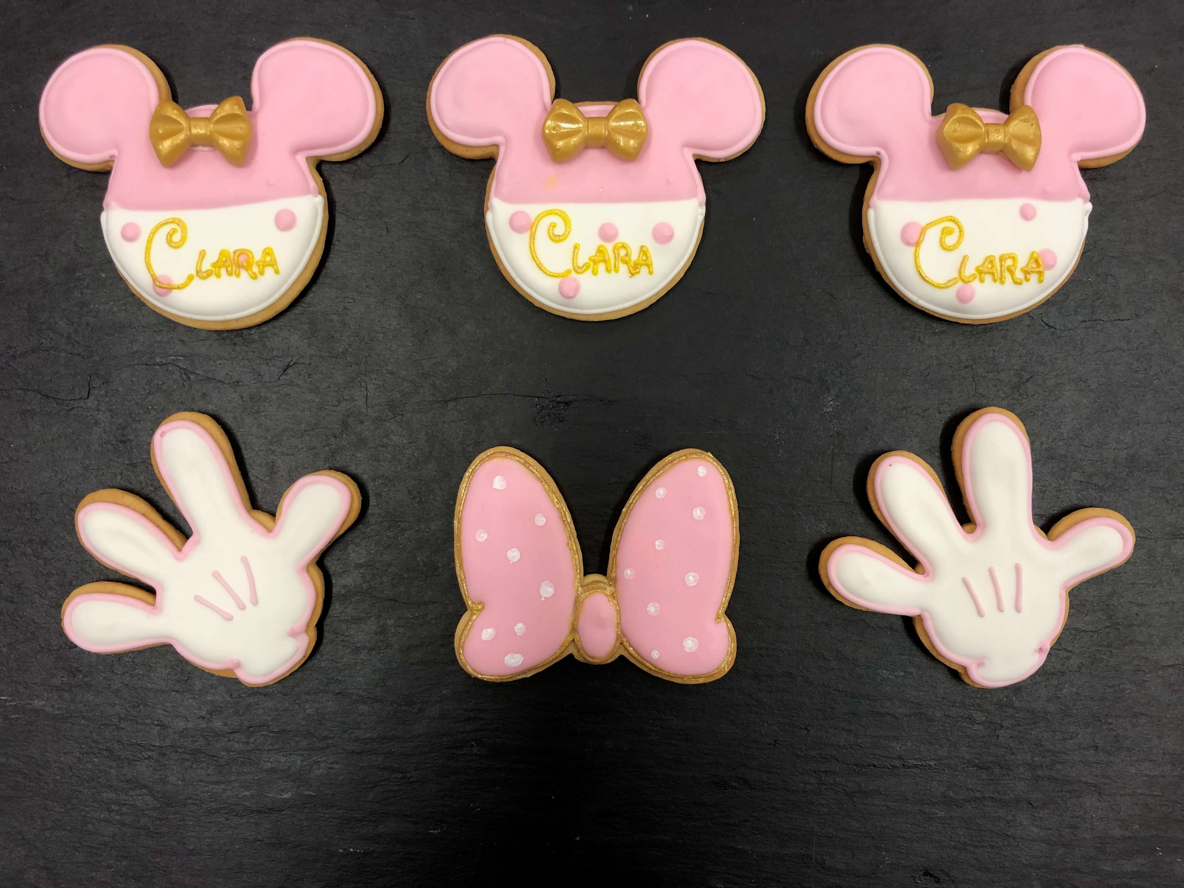 Galletas decoradas personalizada Minnie cumpleaños Coruña