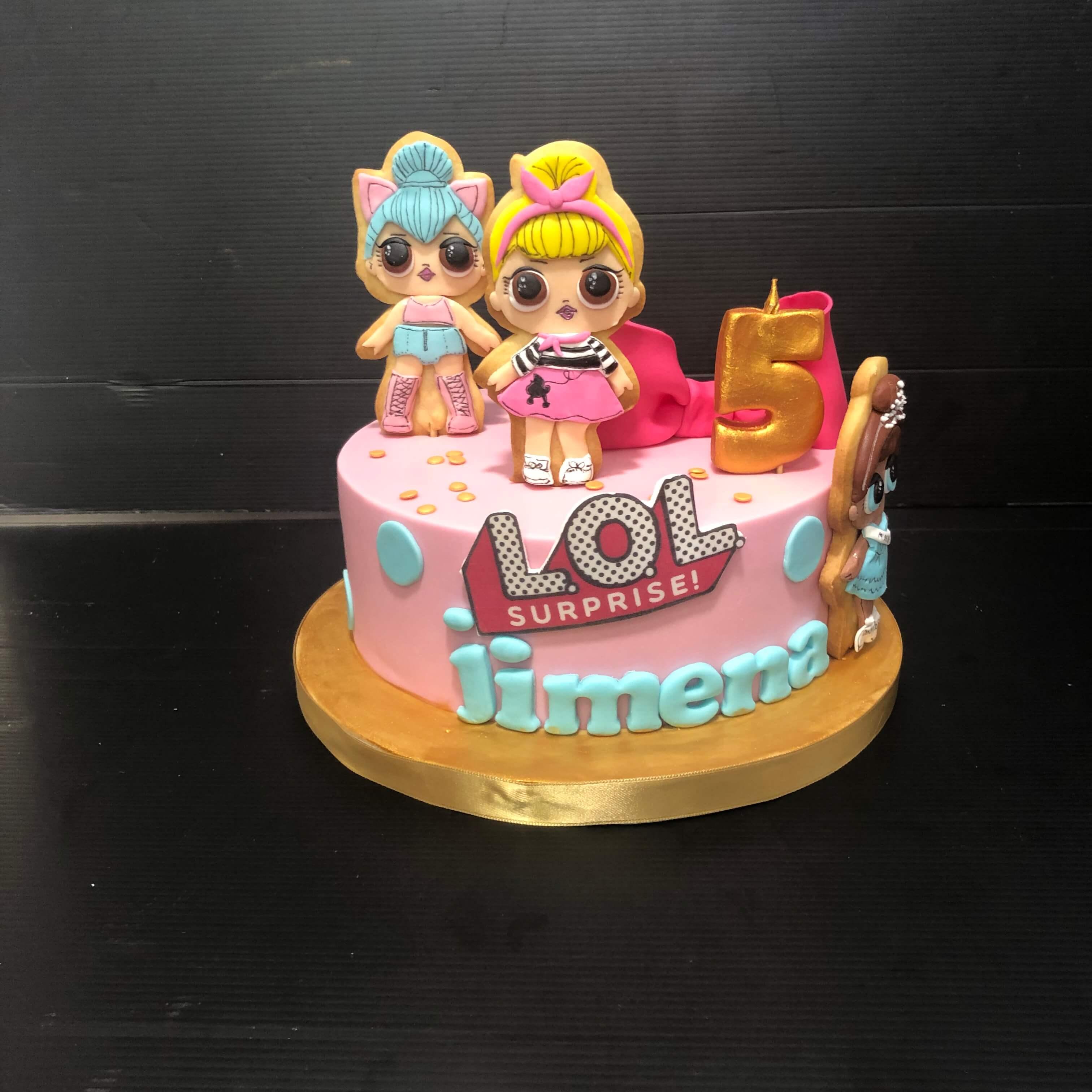tarta cumpleaños LOL Surprise