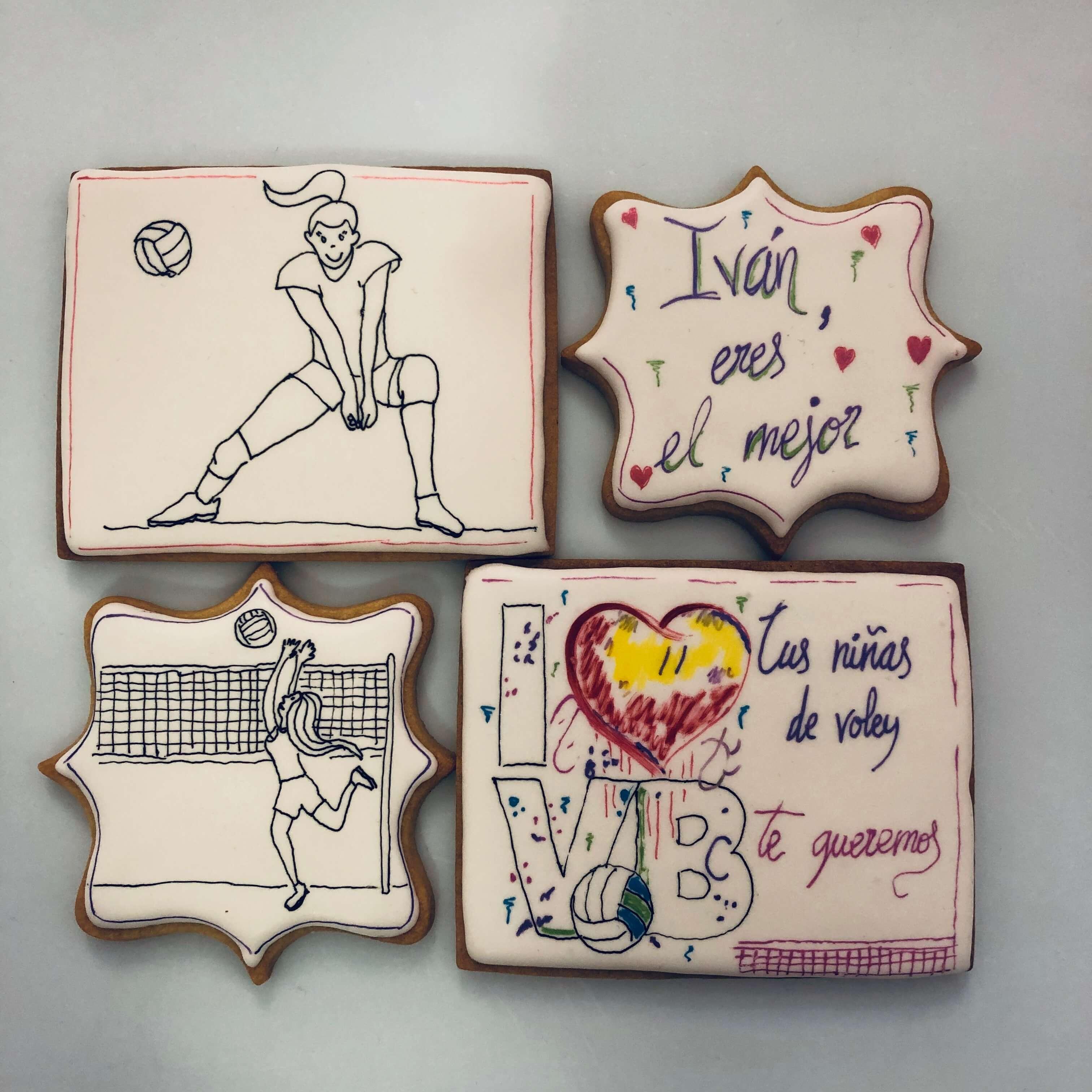 Galletas decoradas deportes voleibol coruña personalizada