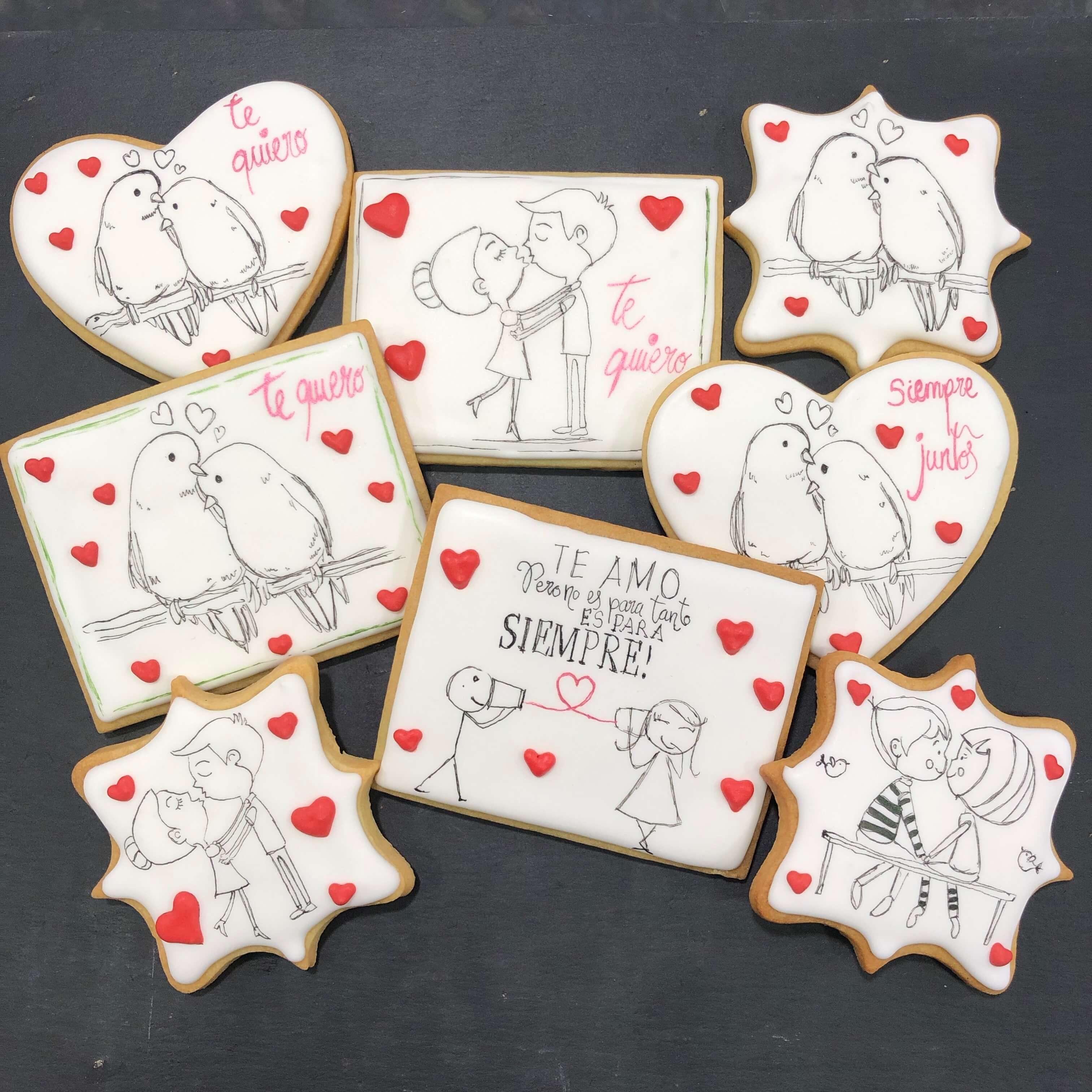 galletas decoradas san Valentín enamorados novios coruña