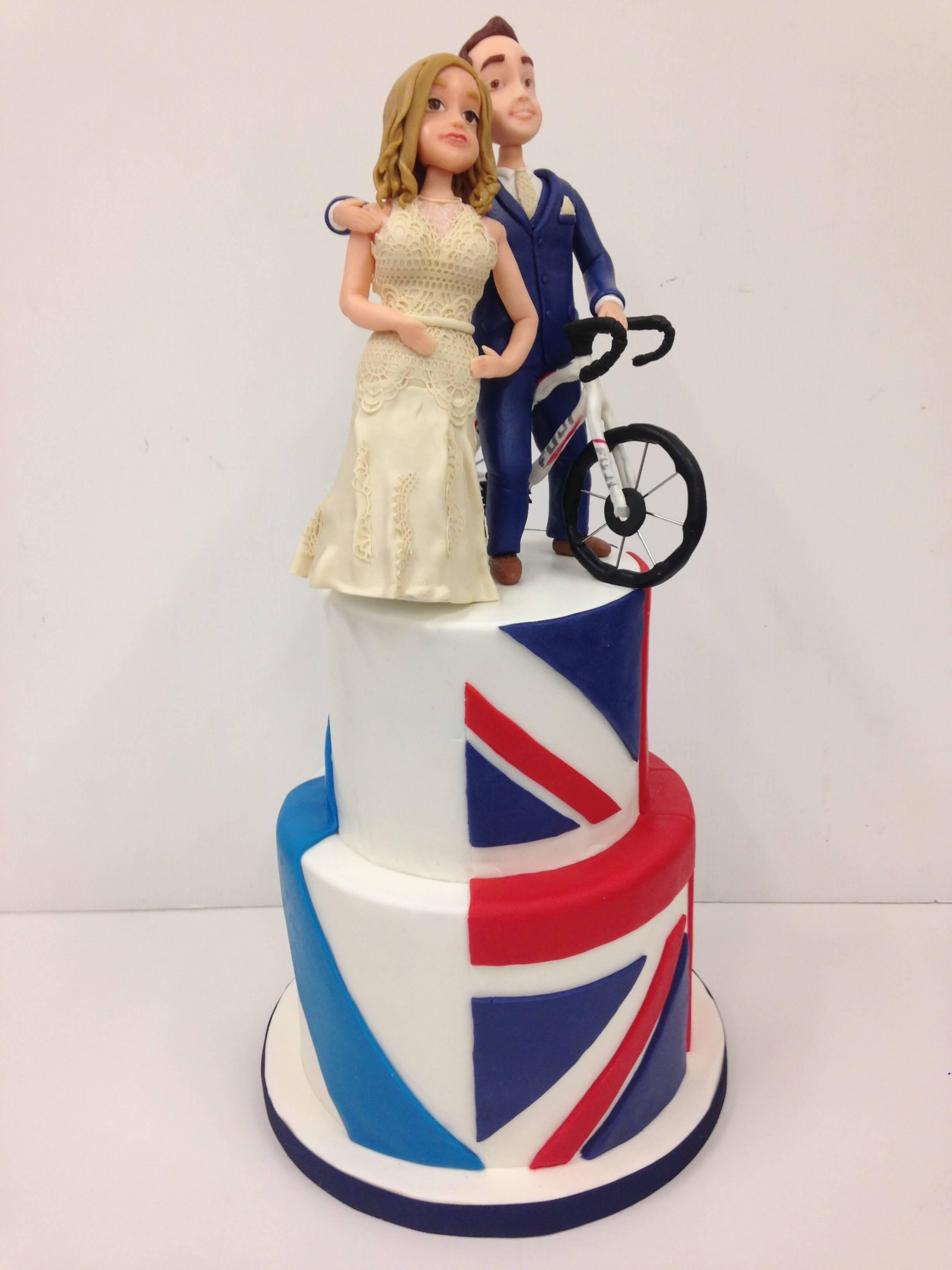 Tarta personalizada boda coruña fondant inglaetra galicia bici decorada coruña pastelería