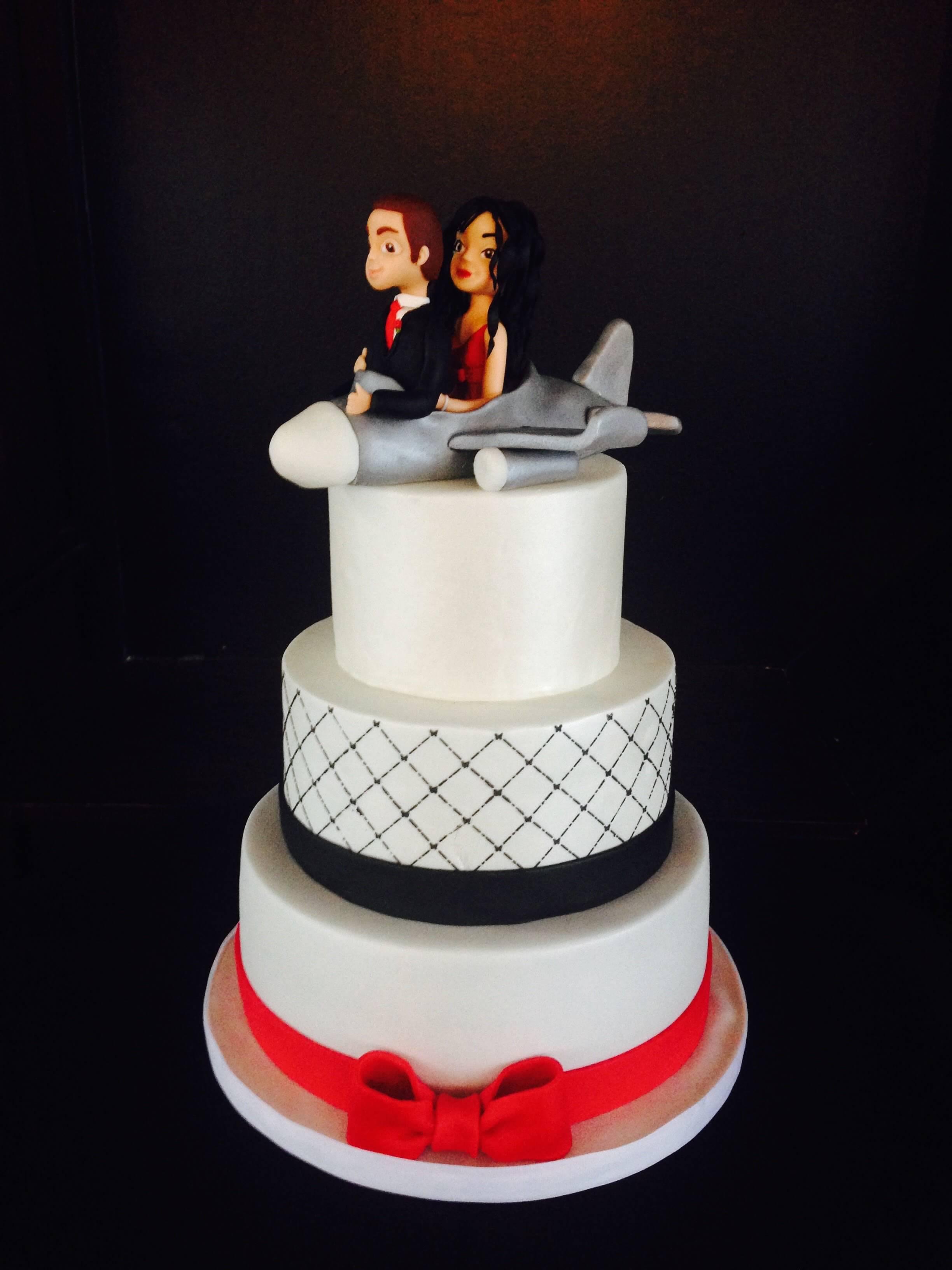tarta boda novios viajeros coruña