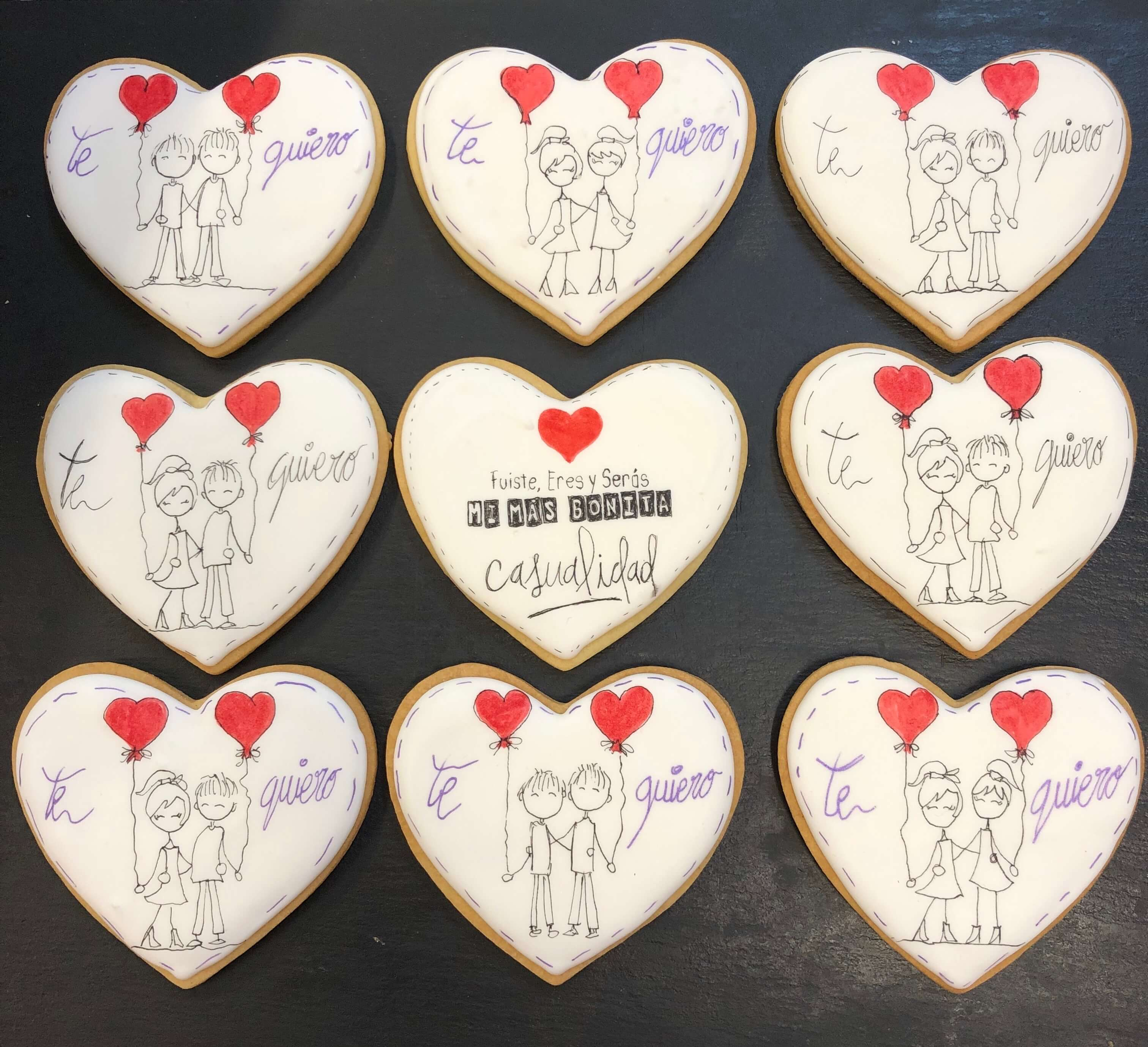 Galletas corazón personalizadas