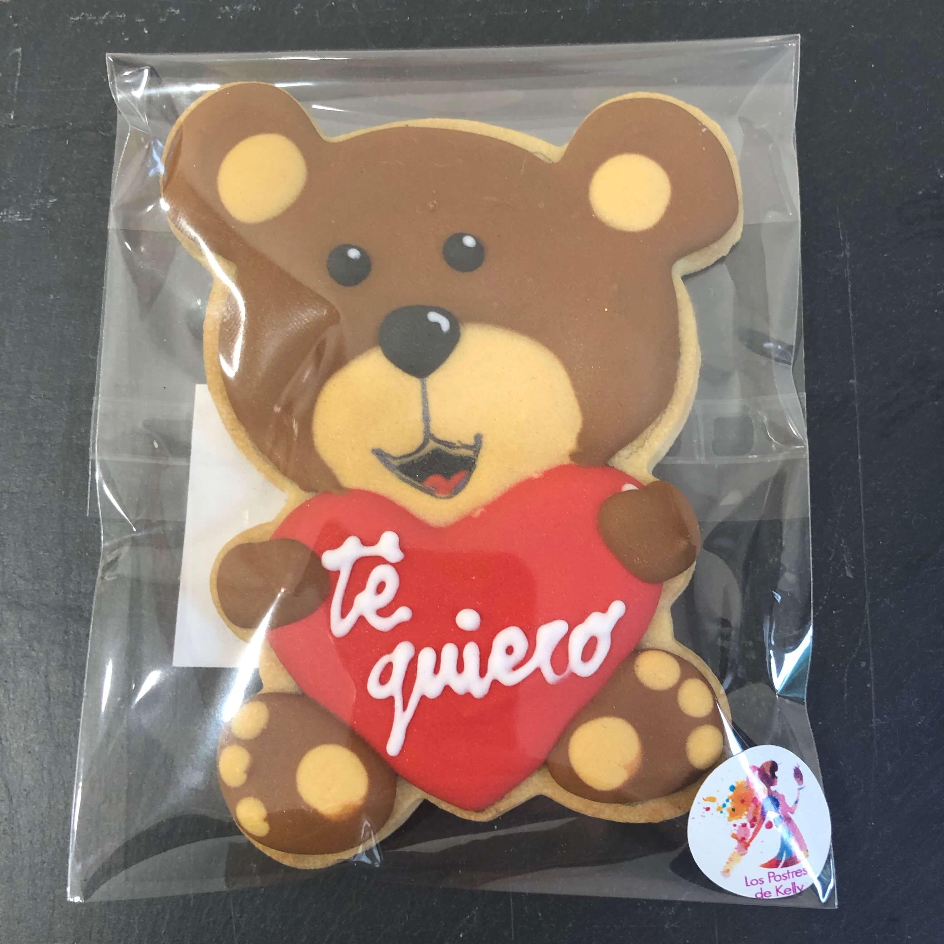 Galleta oso amor coruña san Valentín