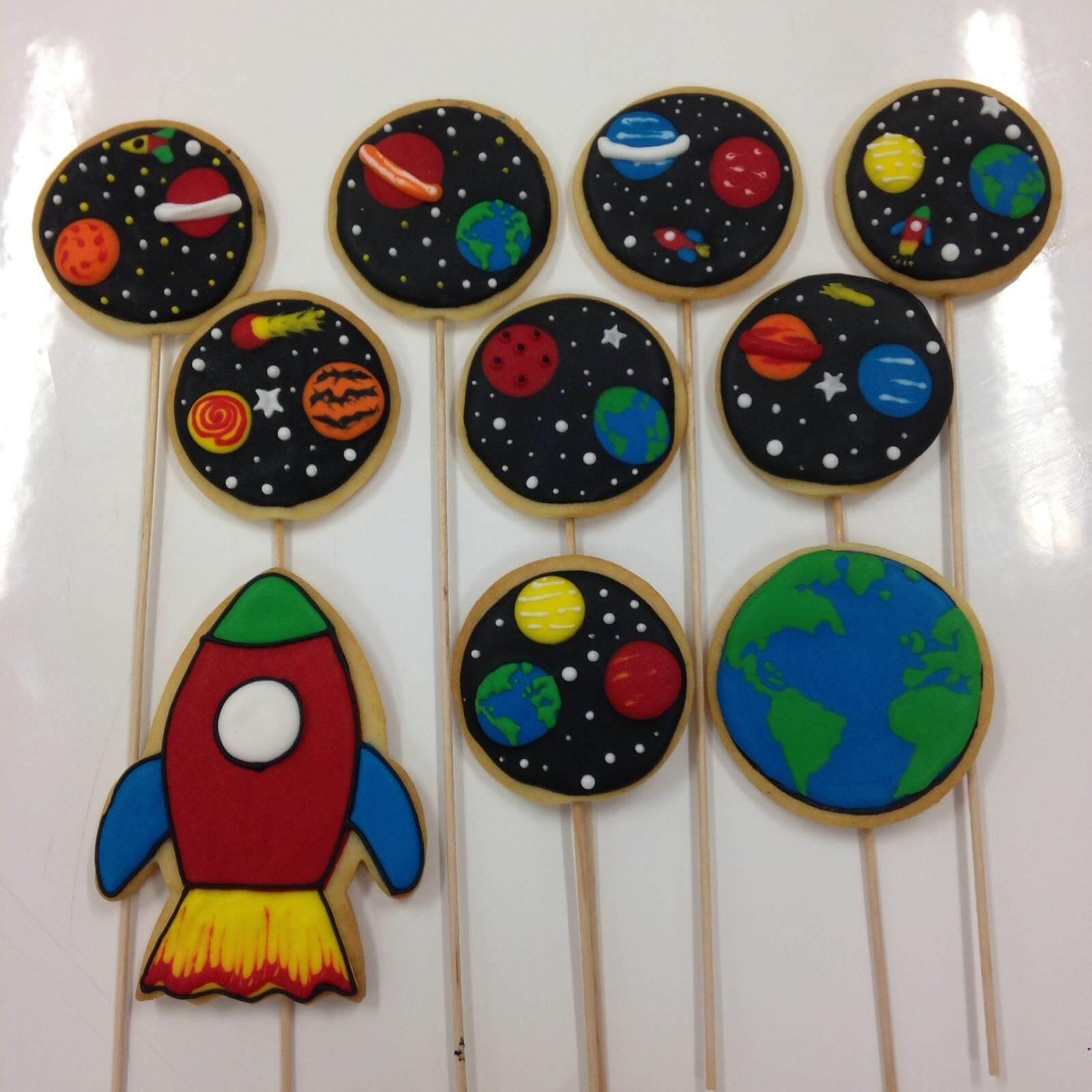 Galletas decoradas universo nave espacial cohete espacio astronautas coruña