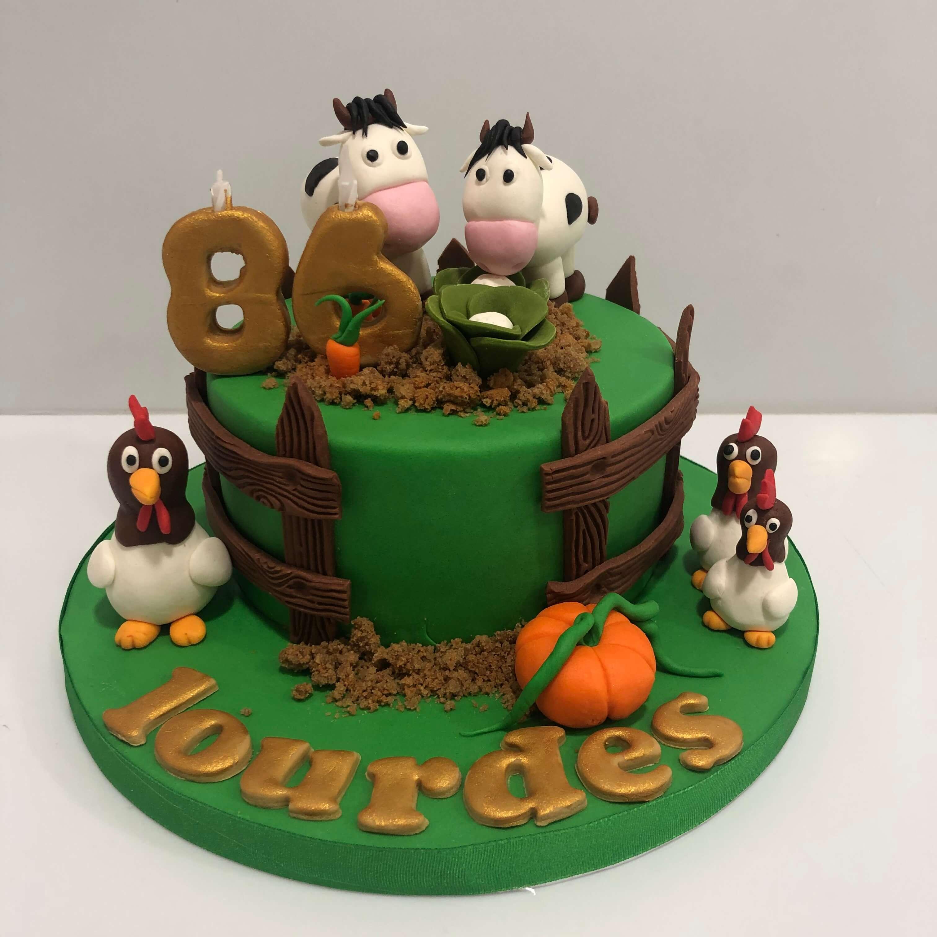 Tarta granja cumpleaños