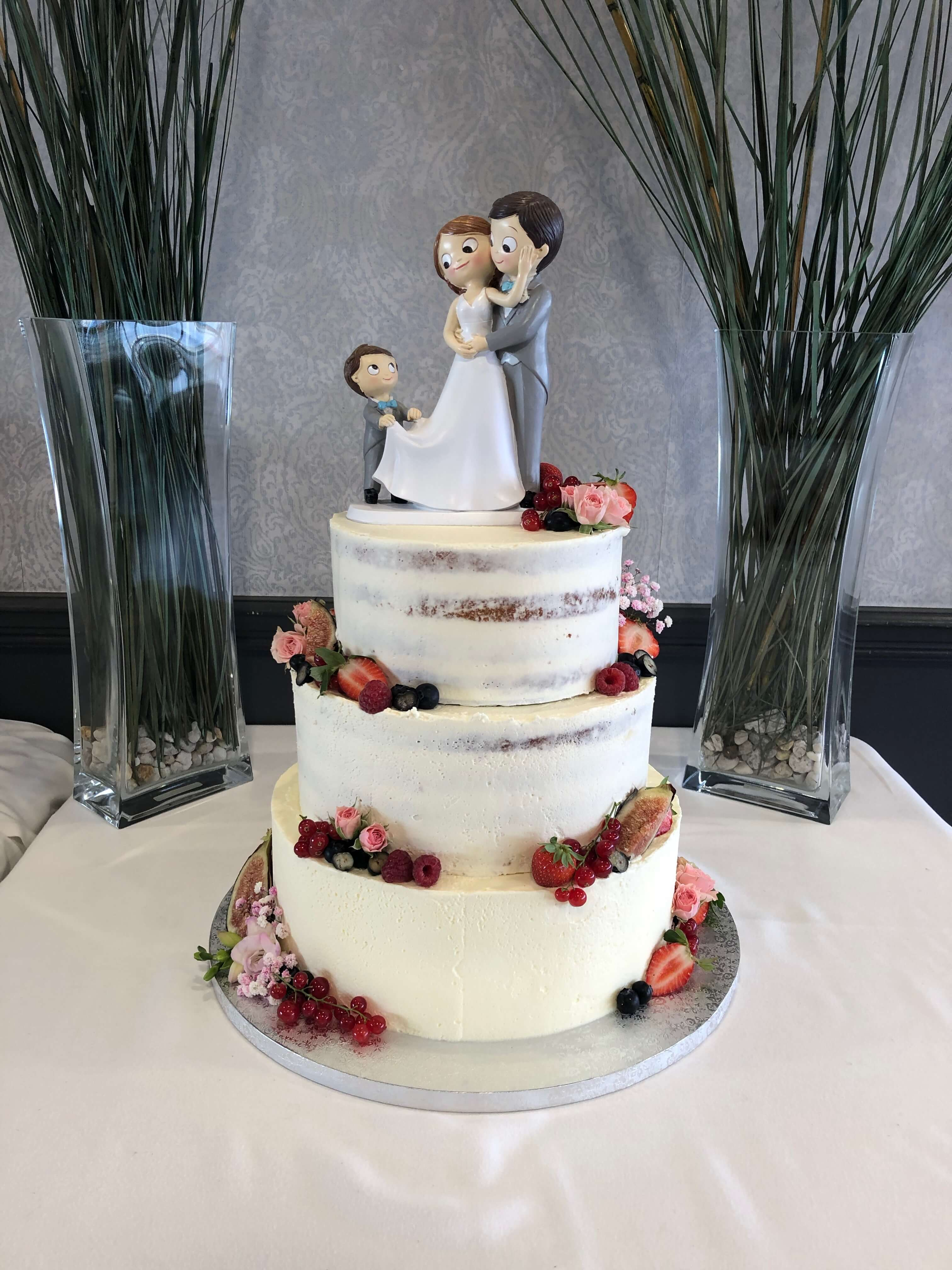 Tarta boda  boda coruña naked cake tarta boda desnuda coruña tarta boda