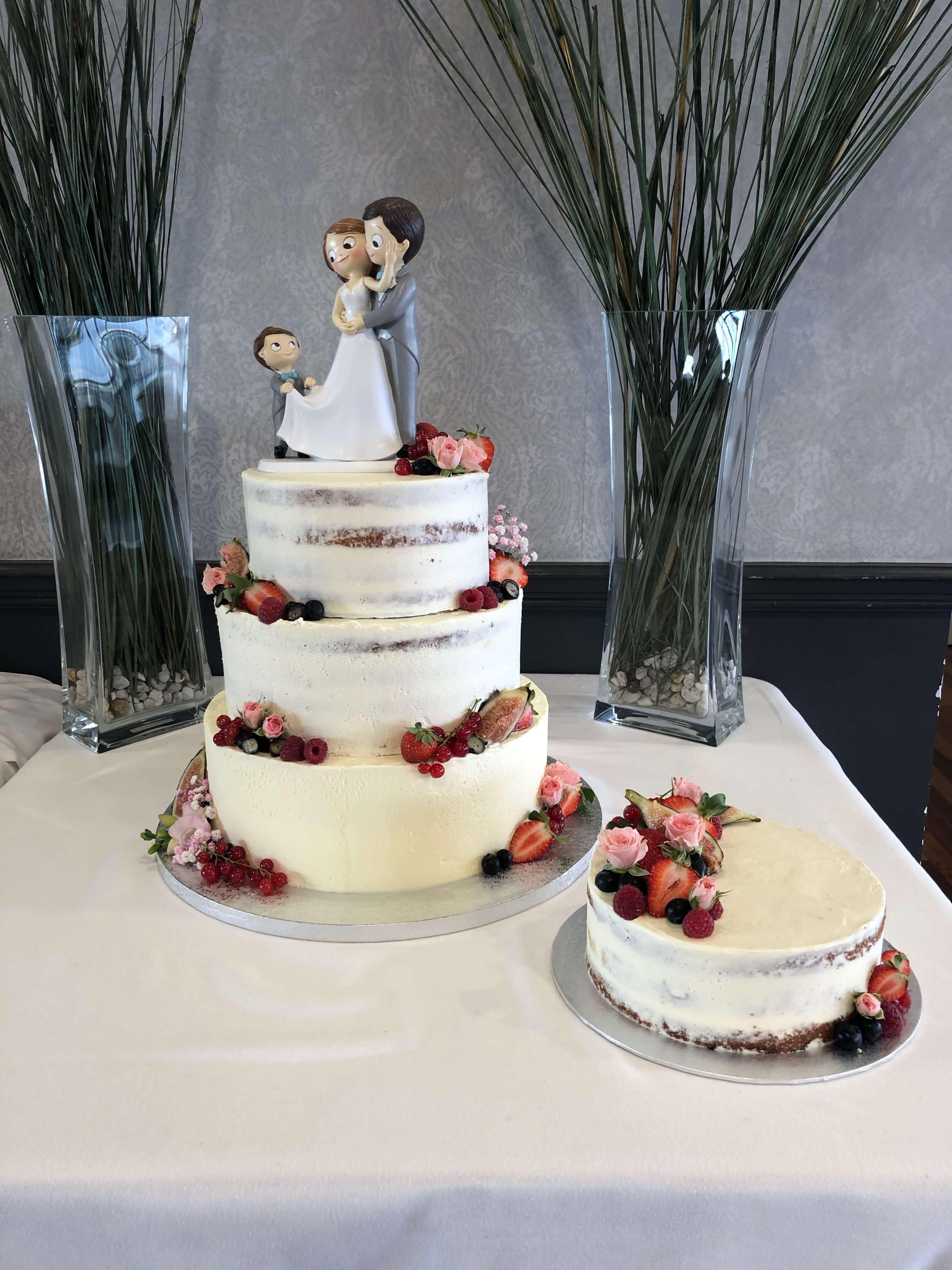 Tarta  boda coruña naked cake tarta boda desnuda coruña