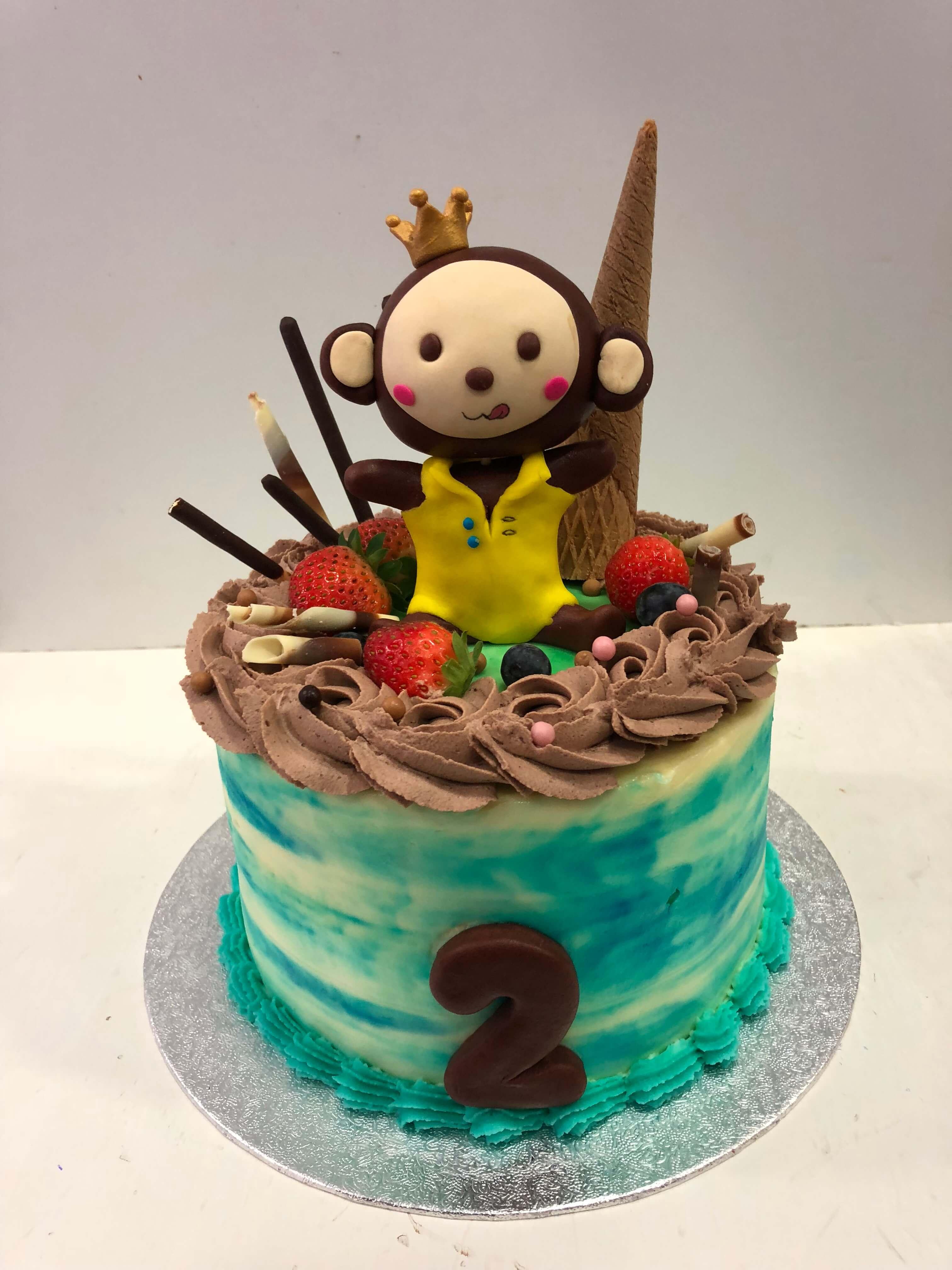 Tarta mono  cumpleaños Coruña mono