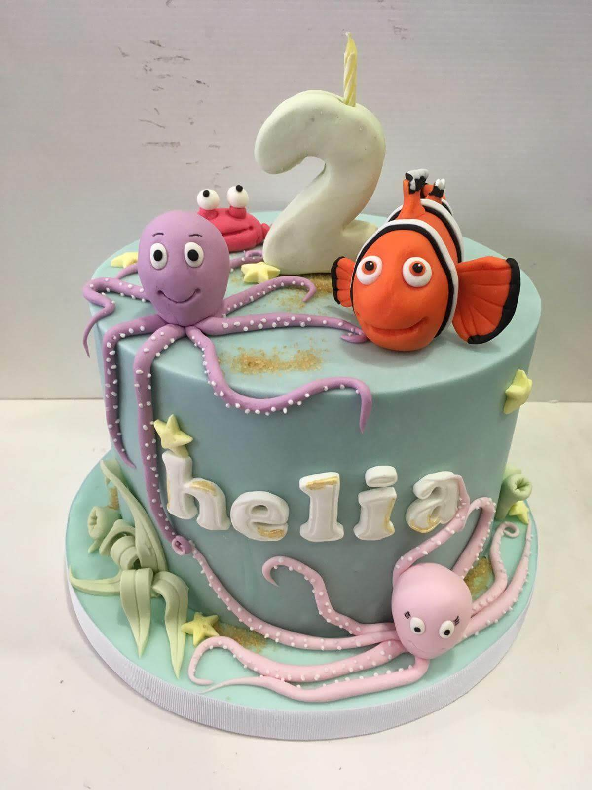 tarta cumpleaños nemo mar Coruña