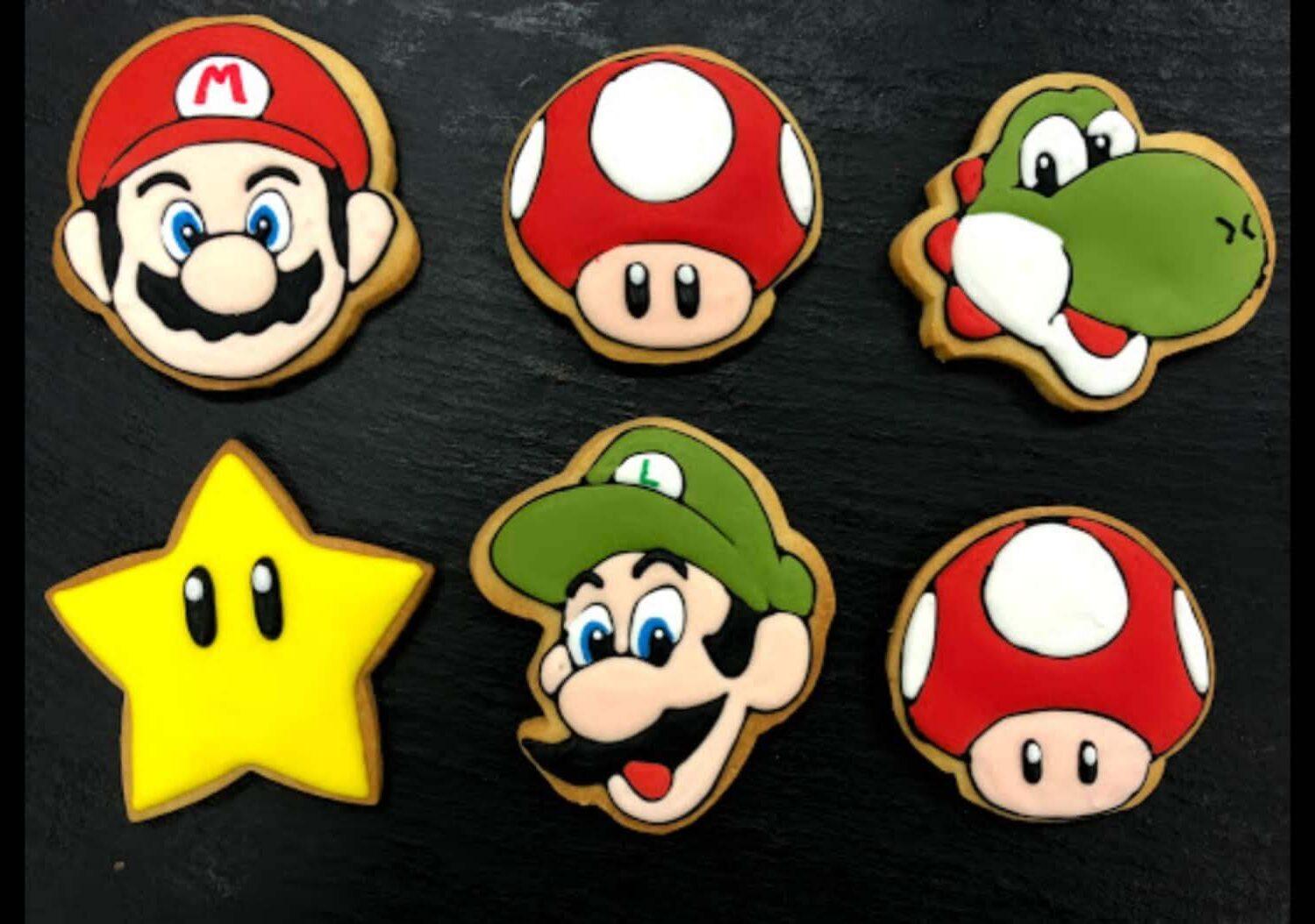 Galleta decorada Súper Mario bross
