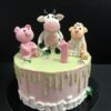 Tarta cumpleaños granja personalizada coruña vaca oveja cerdo