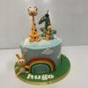 Tarta decorada cumpleaños animalitos divertida preciosa coruña