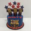 Tarta cumpleaños personalizada futbol Barcelona barca coruña