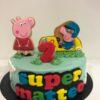 tarta cumpleaños peppa pig decorada galletas personalizada fondant