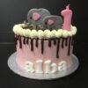 Tarta elefantes cumpleaños bautizo babyshower coruña decorada personalizada