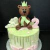Tarta cumpleaños osito drip cake decorada coruña