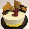 Tarta personalizada cumpleaños camión excavadora coruña galletas decoradas
