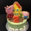 tarta cumpleaños peppa pig decorada galletas